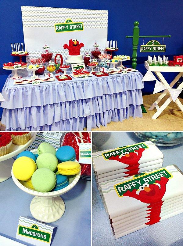 elmo dessert table