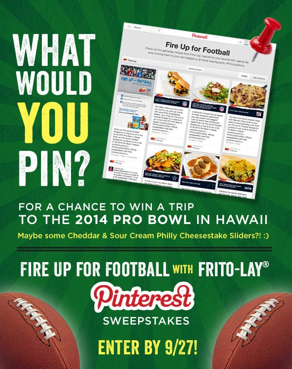 Fire Up for Football Pinterest Sweepstakes from Frito-Lay