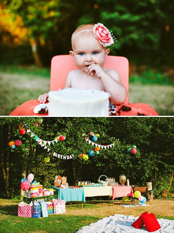 Colorful Backyard First Birthday