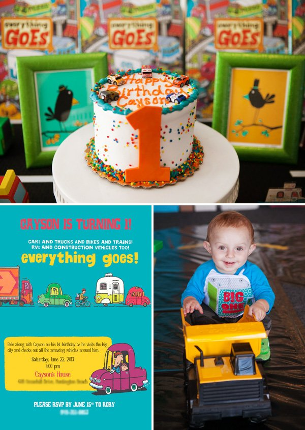 Everything Goes on Land Inspired First Birthday Party