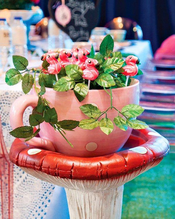 flamingo cake pops