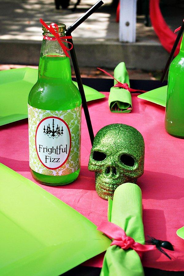 Frightful Fizz Green Halloween Drink