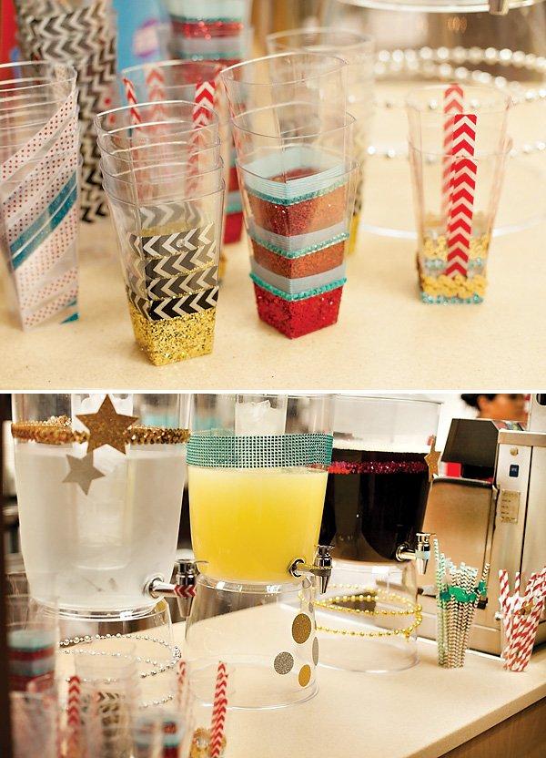 Glittery Drink Station