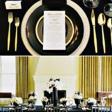 gold and black wedding inspiration