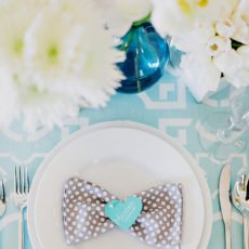 grey polka dot napkins for an inspired wedding look