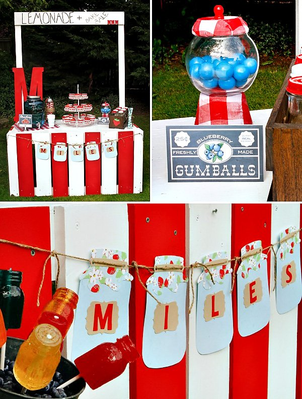 Red and White Lemonade Stand