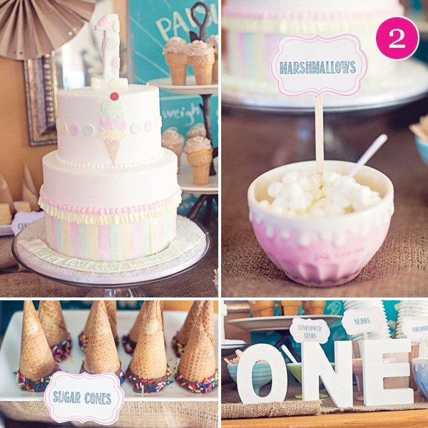 Ice Cream Social First Birthday