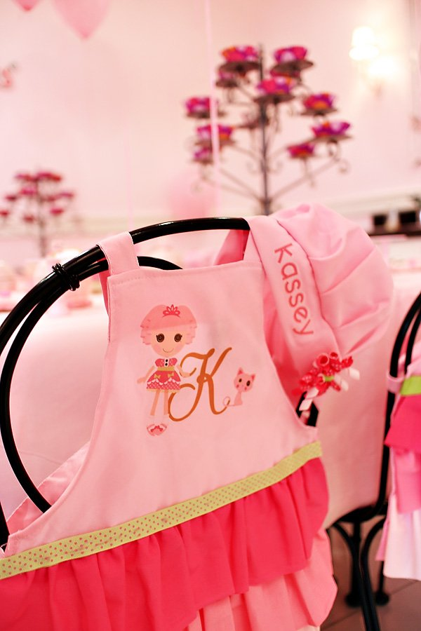 pink party aprons
