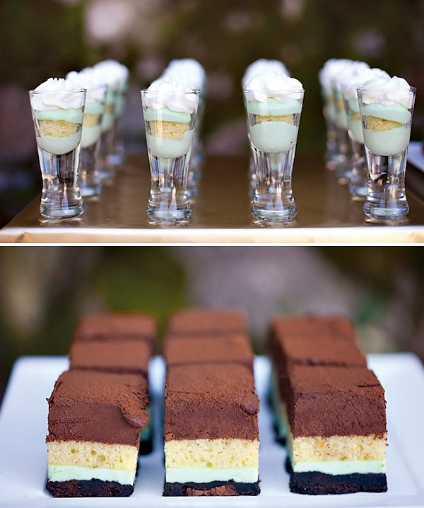 mint layer desserts