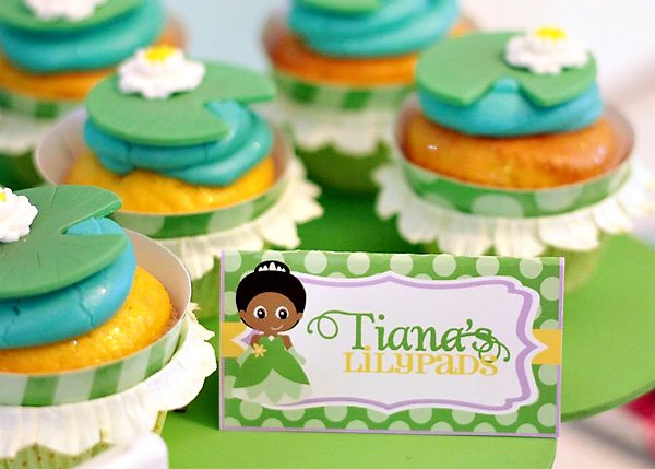 lilly pad cupcakes inspired by disney princess tiana