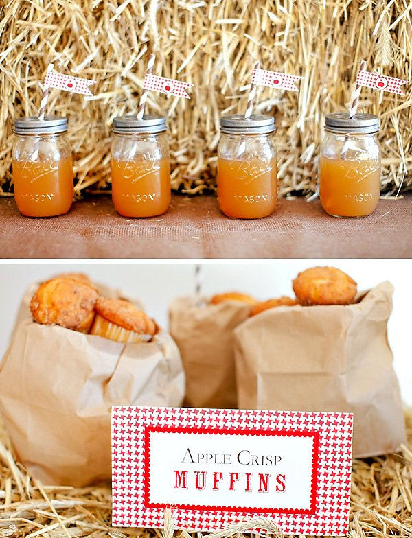 mason jar cups filled with apple cider