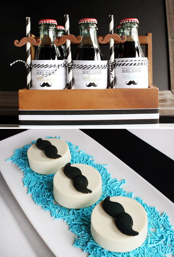 Mustache Oreo Toppers