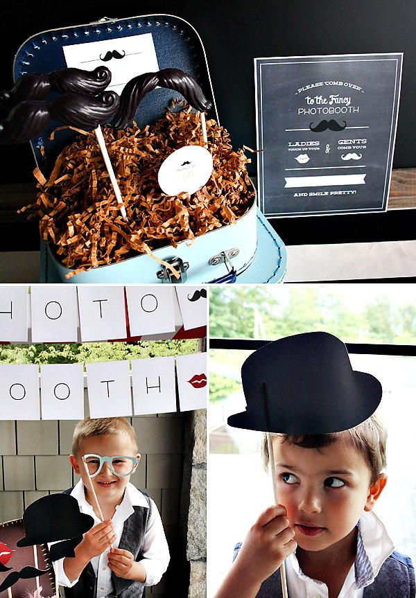 Mustache Photo Booth Props