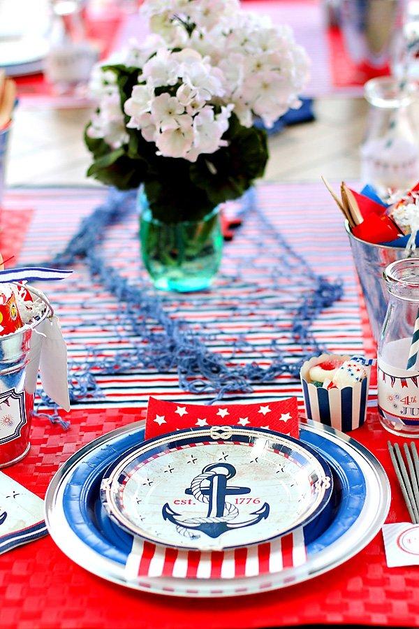 nautical anchor plate