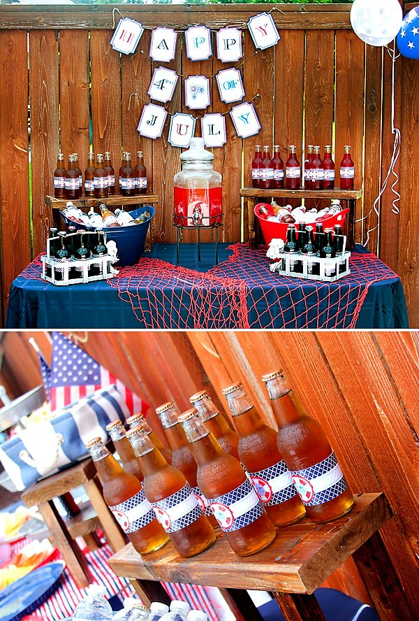 nautical party drinks