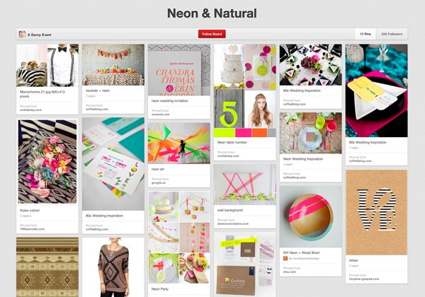 Neon and Natural Pinterest Design Challange