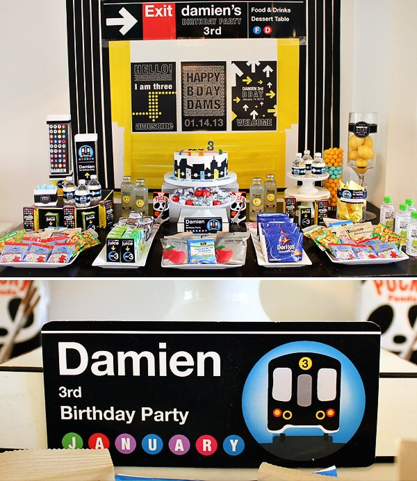 nyc subway themed birthday party