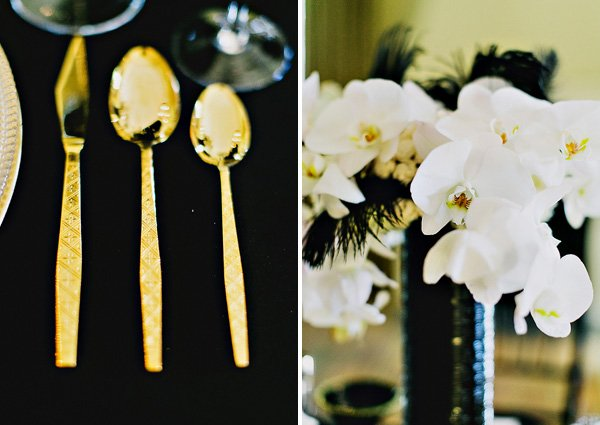 gold spoons
