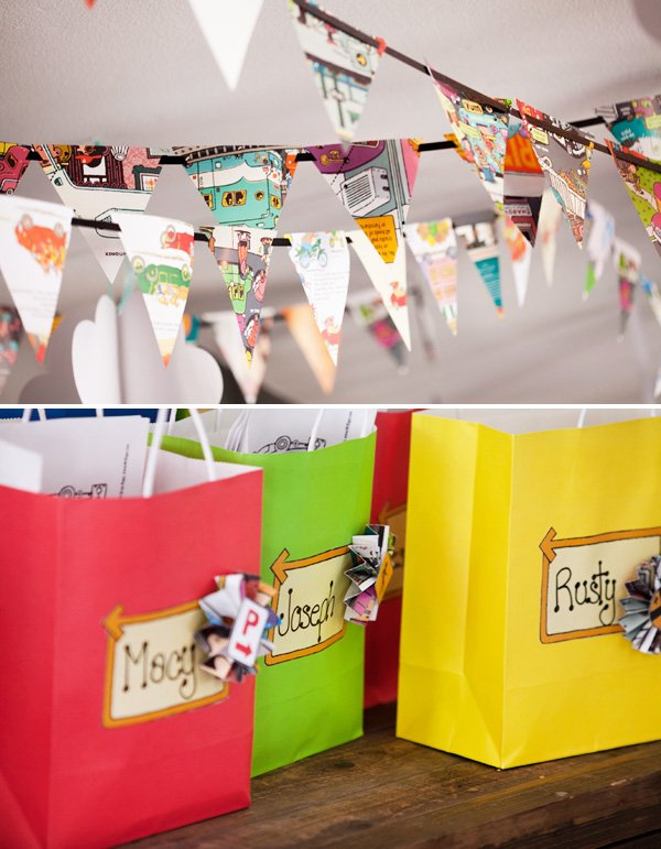 Book Page Party Bunting