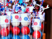 patriotic gum ball tubes