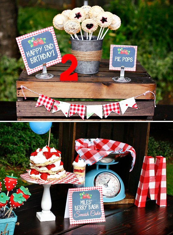 Pie Pops and Mini Gingham Bunting