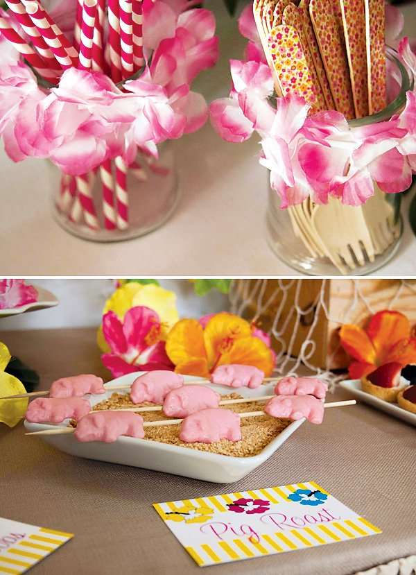 Bright & Cheerful Island Style Luau Party // Hostess with the Mostess®