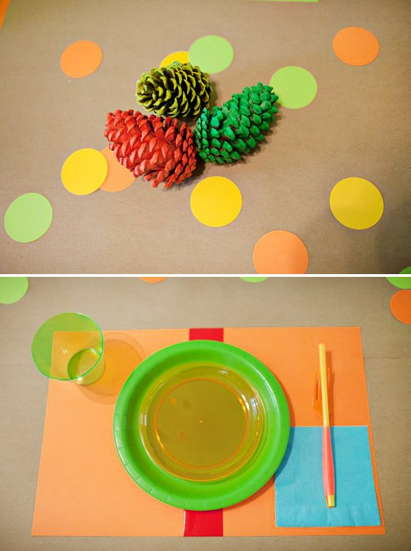 neon camping party ideas