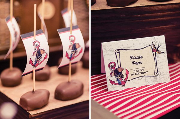 pirate ship cake pops