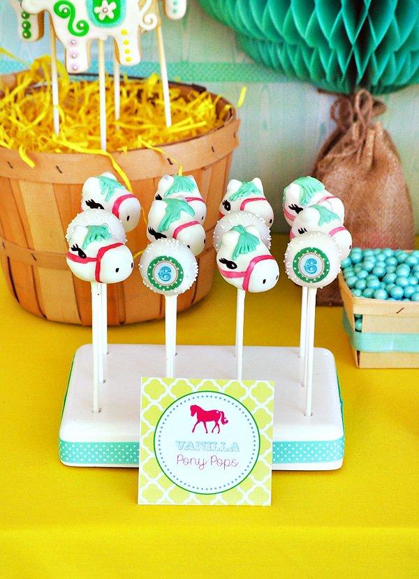 Vanilla Pony Inspired Cake Pops
