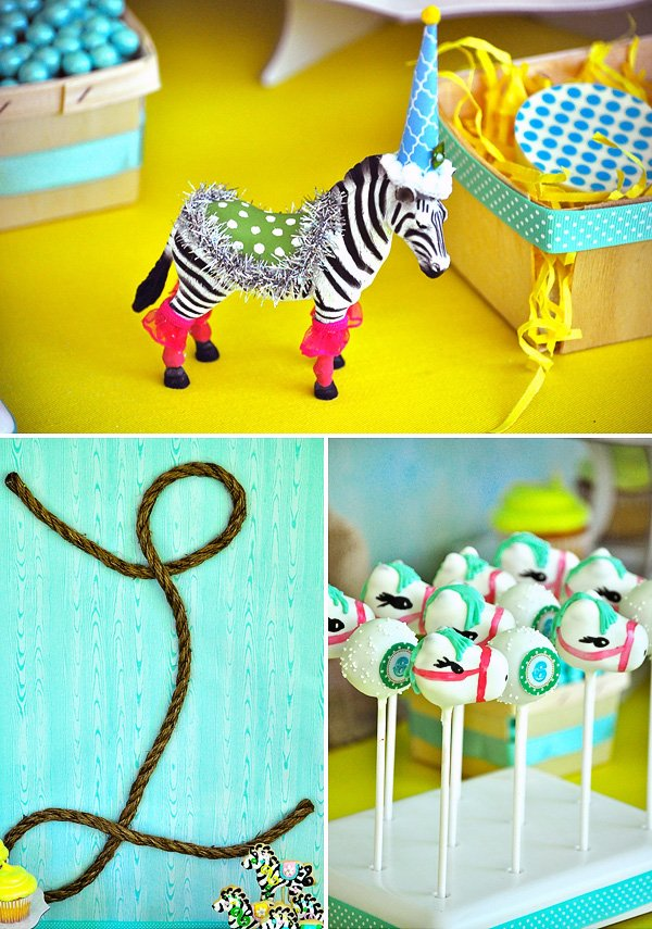 Yellow and Aqua Pony Party