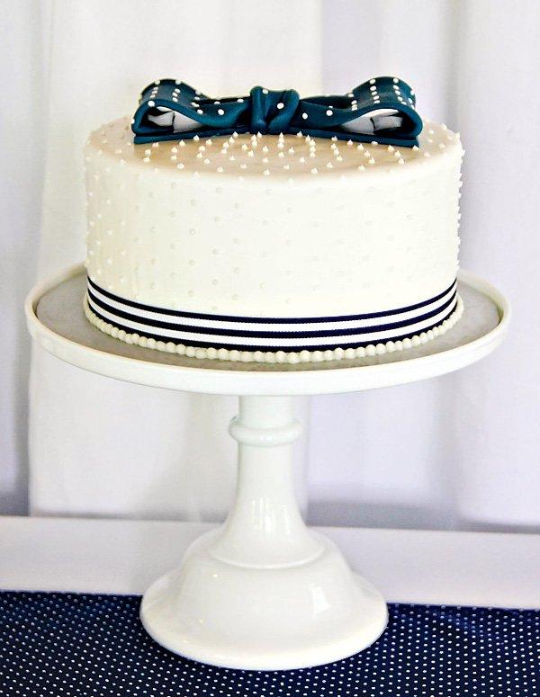 preppy tie cake