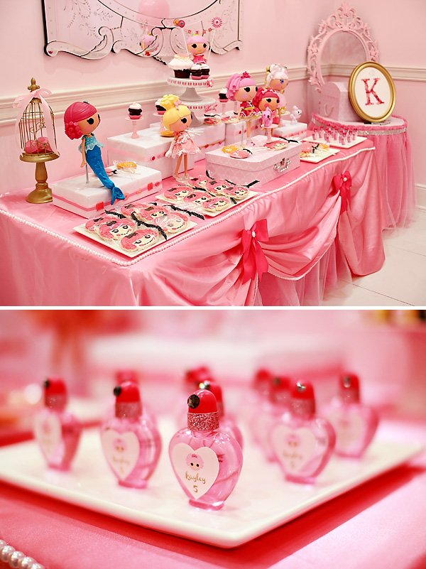 princess lalaloopsy dessert table