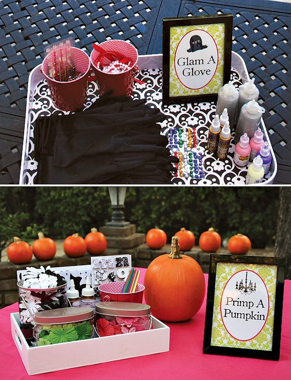 """Primp a Pumpkin"" Decorating Station"