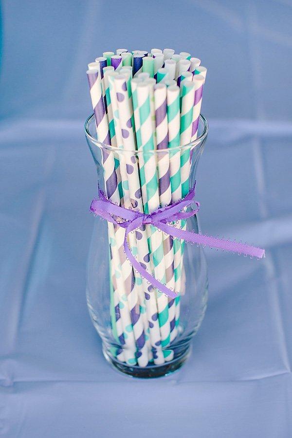 purple straws
