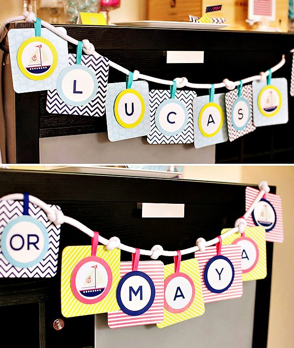Rope Name Banner Bunting