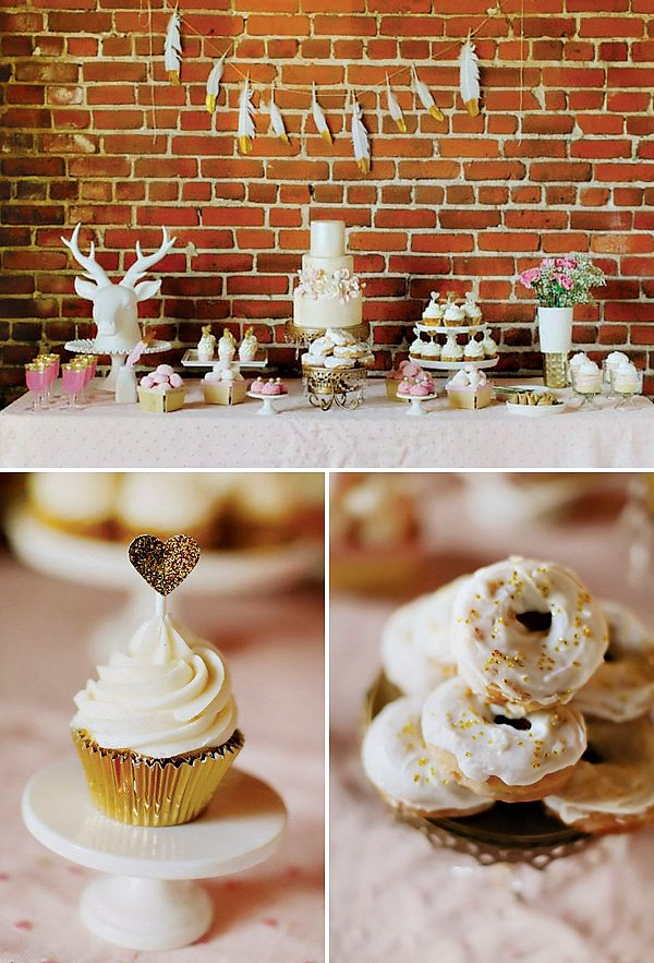 romantic dessert table