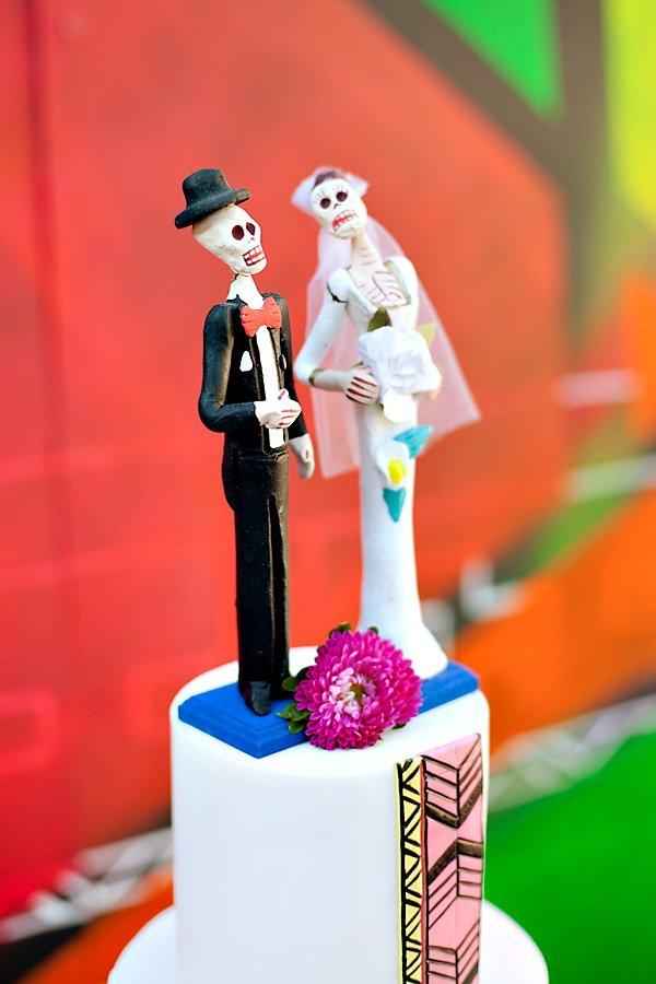 Dia de los Muertos Inspired Skeleton Cake Topper