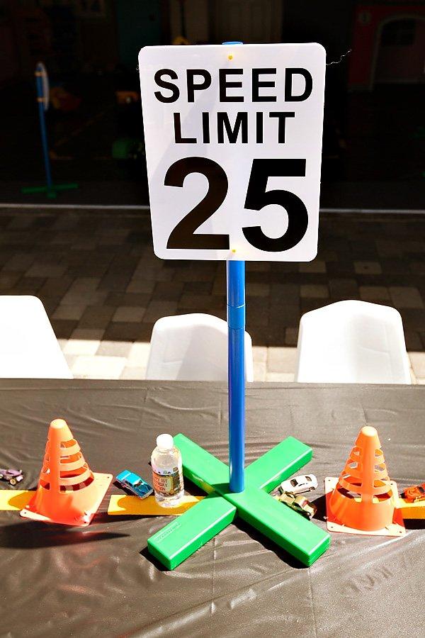 Speed Limit Centerpiece