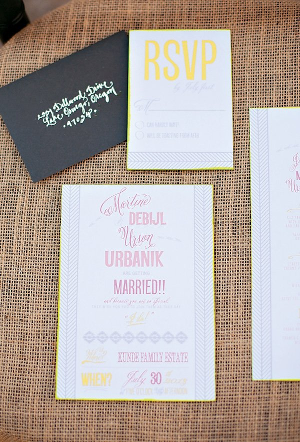 Neon and Natural Stationery Suite
