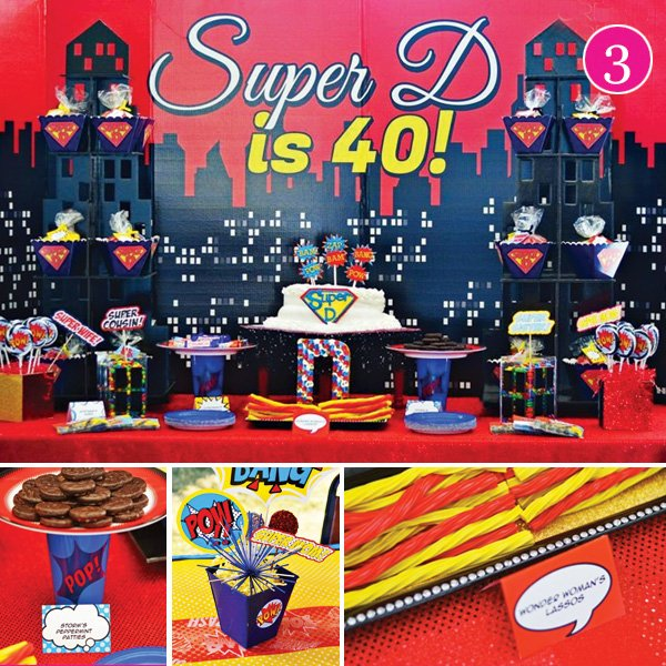 Superhero Adult Birthday Party