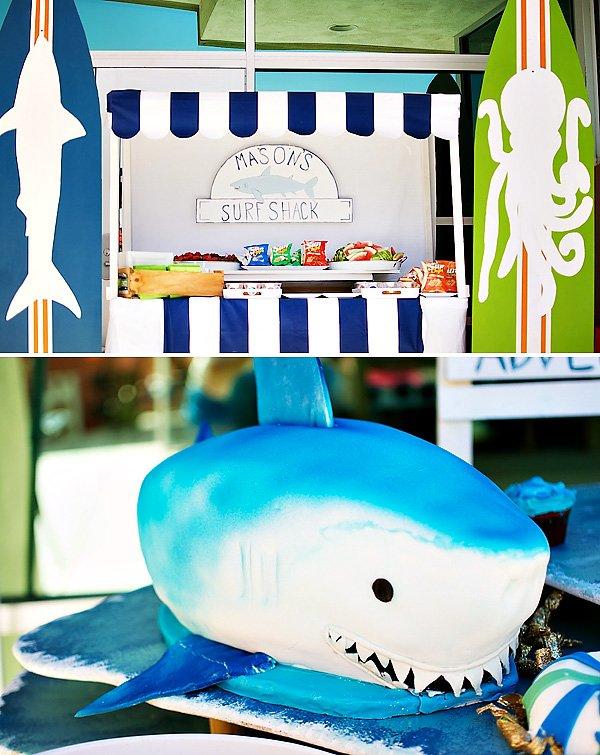 surf shark cake