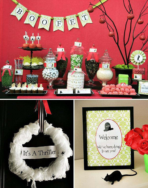 Zombie Thriller Inspired Party Decor