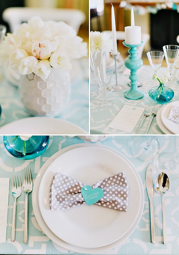 turquise and gray wedding inspiration