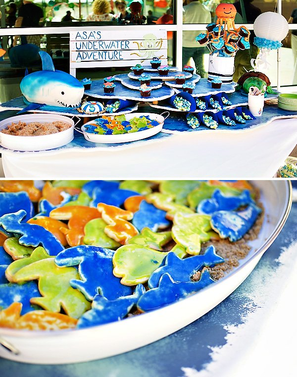 under the sea dessert table