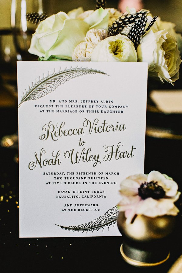 feather inspired wedding