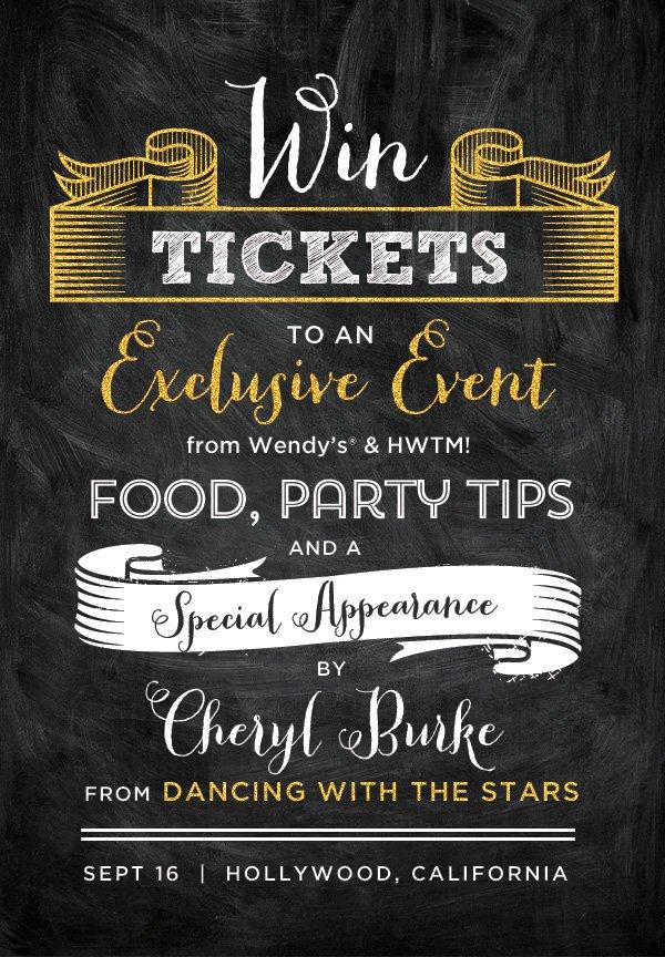 Wendy's & HWTM Event Giveaway