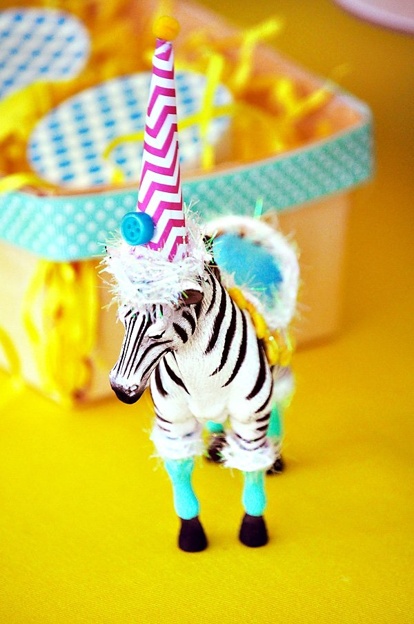 Decorated Party Zebra Decoration