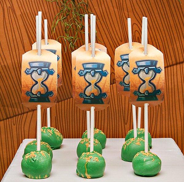 zelda cake pops