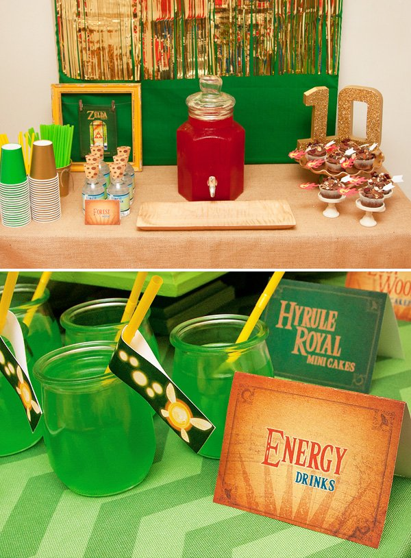 Awesome legend of zelda birthday party hostess with for Decoration zelda