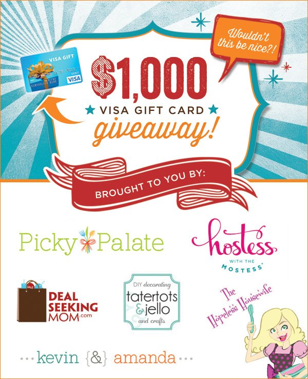 1000 Visa Gift Card Giveaway